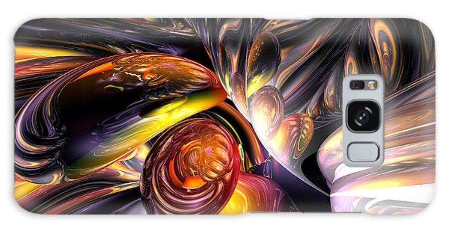 3d Galaxy S8 Case featuring the digital art Blaze Abstract by Alexander Butler