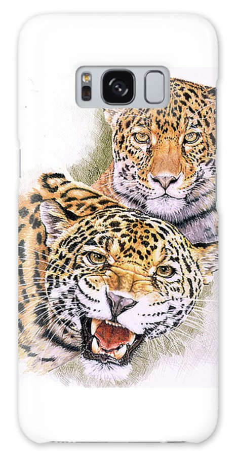 Jaguar Galaxy Case featuring the drawing Blaze of Glory by Barbara Keith