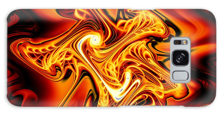 Fractal Galaxy S8 Case featuring the digital art Blazing Cipher by Vicky Brago-Mitchell