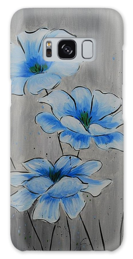 Flower Galaxy S8 Case featuring the painting Bleuming by Emily Page
