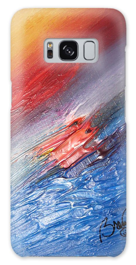 Abstract Galaxy S8 Case featuring the painting Bliss - D by Brenda Basham Dothage