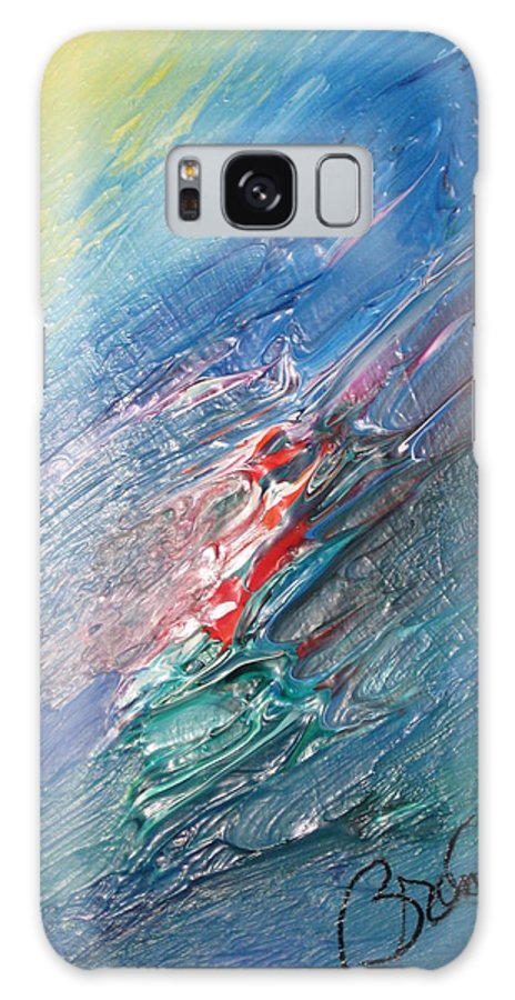 Abstract Galaxy S8 Case featuring the painting Bliss - F by Brenda Basham Dothage