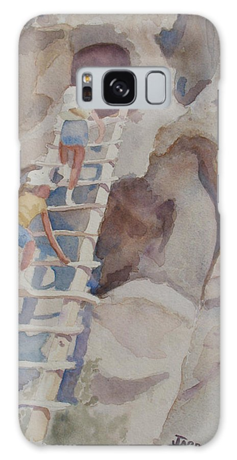Ladder Galaxy S8 Case featuring the sculpture Blond Indians by Jenny Armitage