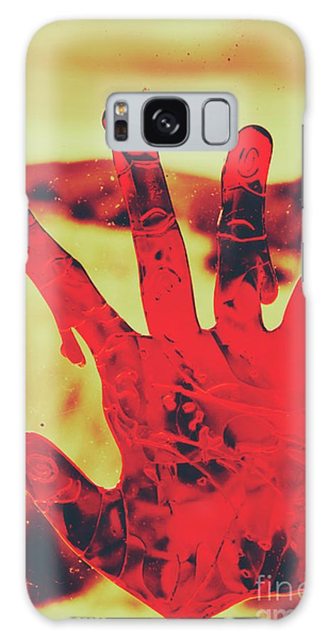 Blood Galaxy S8 Case featuring the photograph Bloody Halloween Palm Print by Jorgo Photography - Wall Art Gallery