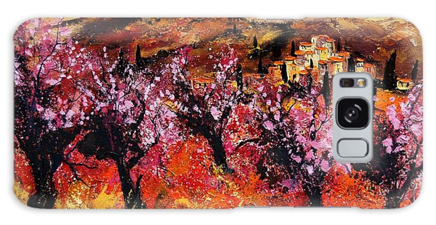 Provence Cherrytree Summer Spring Galaxy S8 Case featuring the painting Blooming Cherry Trees by Pol Ledent