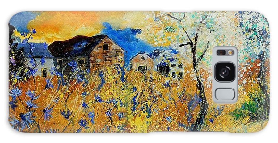 Poppies Galaxy Case featuring the painting Blooming Trees by Pol Ledent
