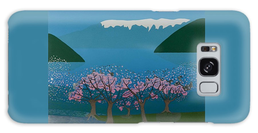 Landscape Galaxy Case featuring the mixed media Blossom In The Hardanger Fjord by Jarle Rosseland