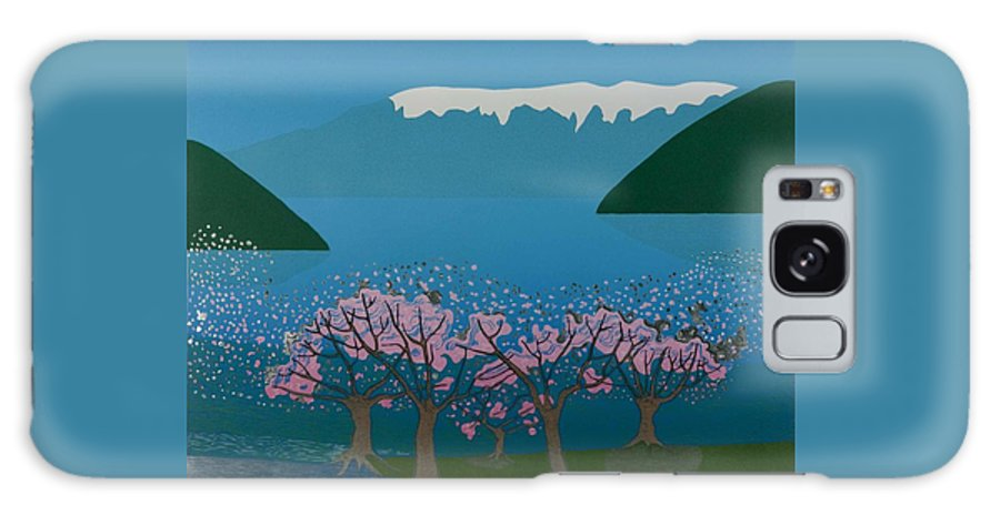Landscape Galaxy S8 Case featuring the mixed media Blossom In The Hardanger Fjord by Jarle Rosseland