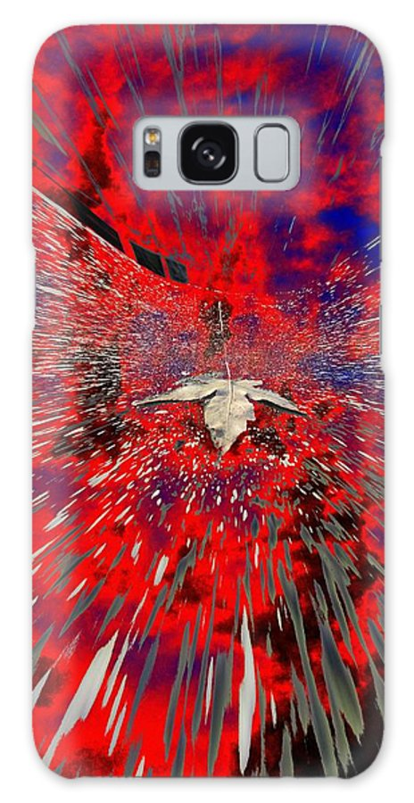 Abstract Galaxy S8 Case featuring the digital art Blowin by Tim Allen
