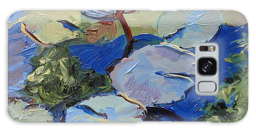 Lilies Galaxy S8 Case featuring the painting Blu I by Barbara Andolsek