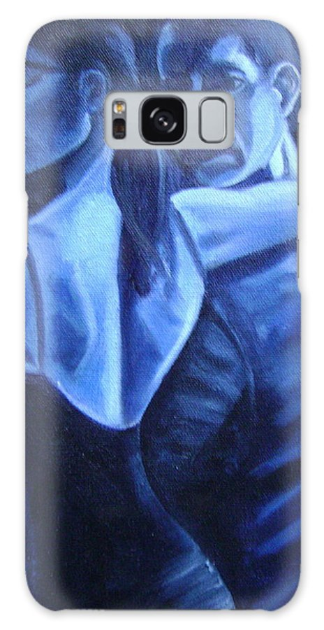 Galaxy Case featuring the painting Bludance by Toni Berry