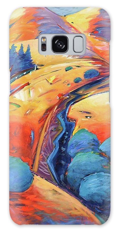 Hills Galaxy S8 Case featuring the painting Blue and Gold by Gary Coleman