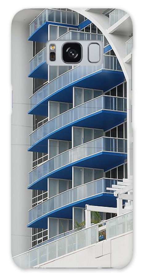 Architecture Galaxy Case featuring the photograph Blue Bayu by Rob Hans