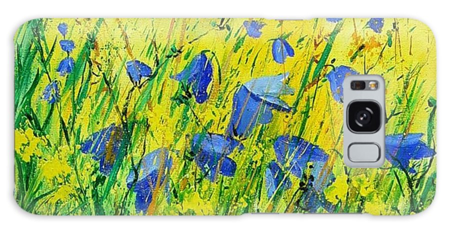Poppies Galaxy S8 Case featuring the painting Blue Bells by Pol Ledent