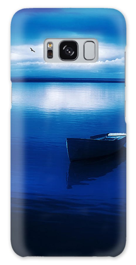 Boat Galaxy S8 Case featuring the photograph Blue Blue Boat by Mal Bray