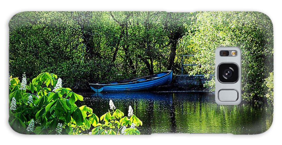 Irish Galaxy Case featuring the photograph Blue Boat Cong Ireland by Teresa Mucha