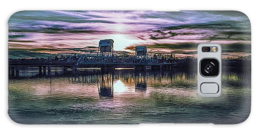 Galaxy S8 Case featuring the photograph Blue Bridge At Sunset by Marcia Darby