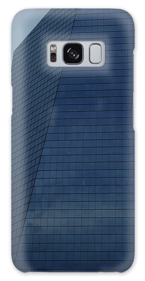 City Galaxy Case featuring the photograph Blue Building by Linda Sannuti