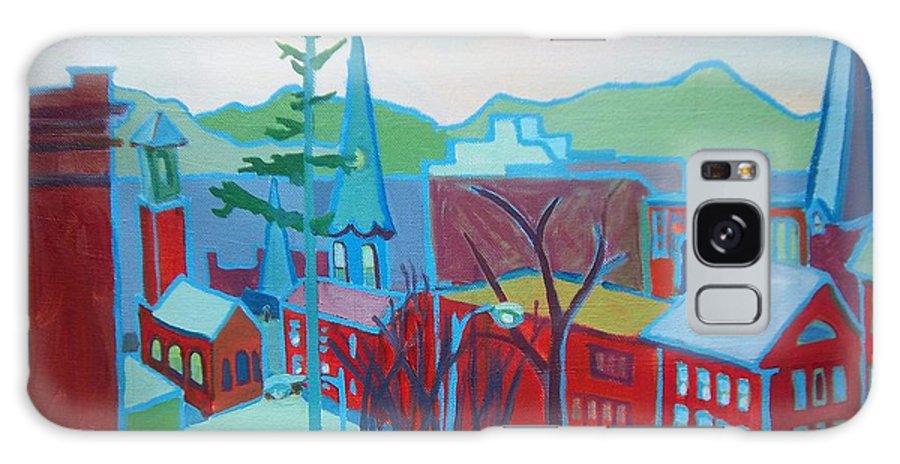 Burlington Galaxy S8 Case featuring the painting Blue Burlington by Debra Bretton Robinson
