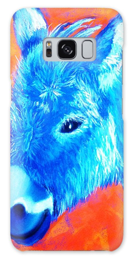 Burro Galaxy S8 Case featuring the painting Blue Burrito by Melinda Etzold