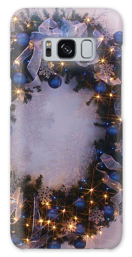 Holiday Galaxy S8 Case featuring the photograph Blue Christmas by Florene Welebny