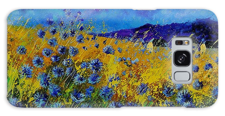Poppies Galaxy S8 Case featuring the painting Blue Cornflowers by Pol Ledent