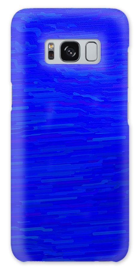 Blue Galaxy S8 Case featuring the digital art Blue Currents by April Patterson