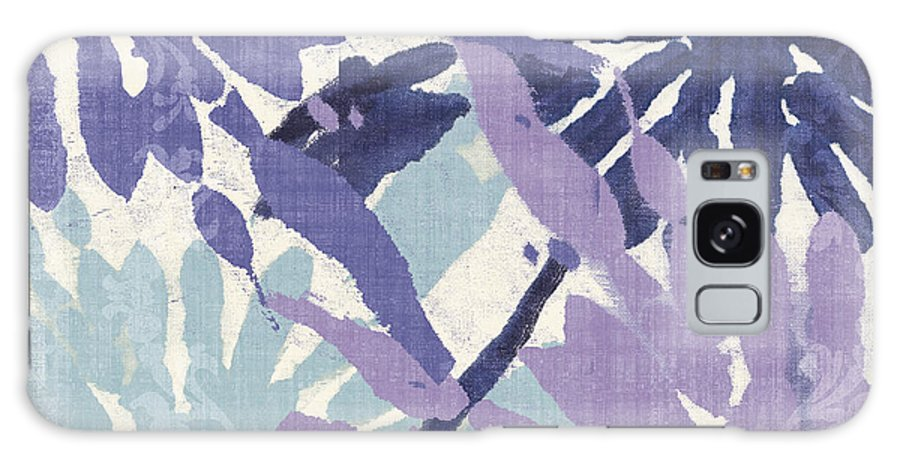 Ikat Galaxy S8 Case featuring the painting Blue Curry II by Mindy Sommers