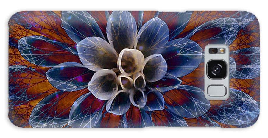 Flower Galaxy S8 Case featuring the digital art Blue Dahlia by Barbara Berney