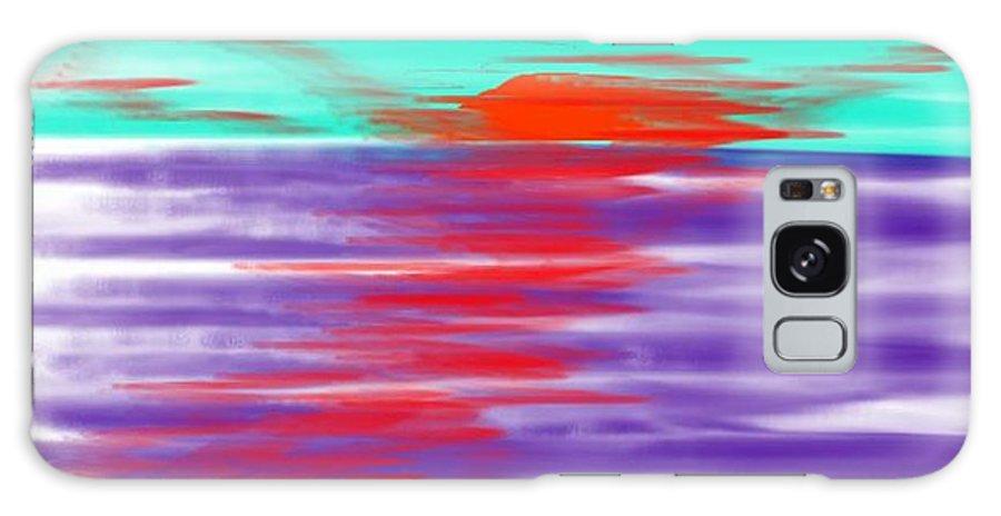 Sky.clouds.sun.sunrays.sunset.sea.water.reflection.slow Waves.deep Water.evening.rest.silence Galaxy S8 Case featuring the digital art Blue Deep Evening by Dr Loifer Vladimir