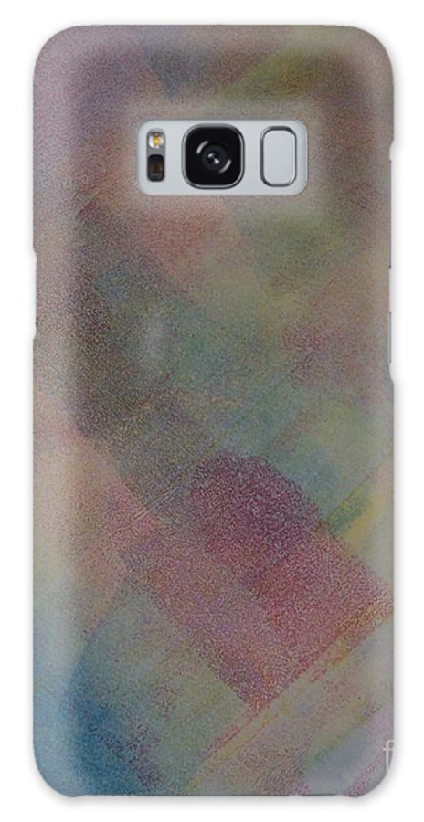 Abstract Galaxy Case featuring the painting Blue by Emily Young
