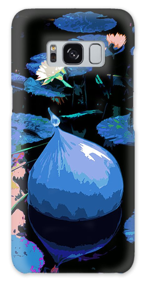 Garden Pond Galaxy S8 Case featuring the photograph Blue Evening On The Pond by John Lautermilch