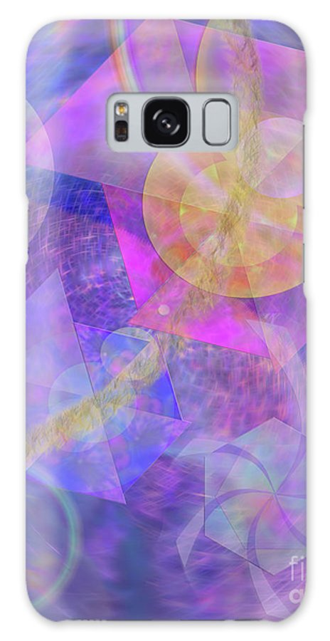 Blue Expectations Galaxy Case featuring the digital art Blue Expectations by John Beck
