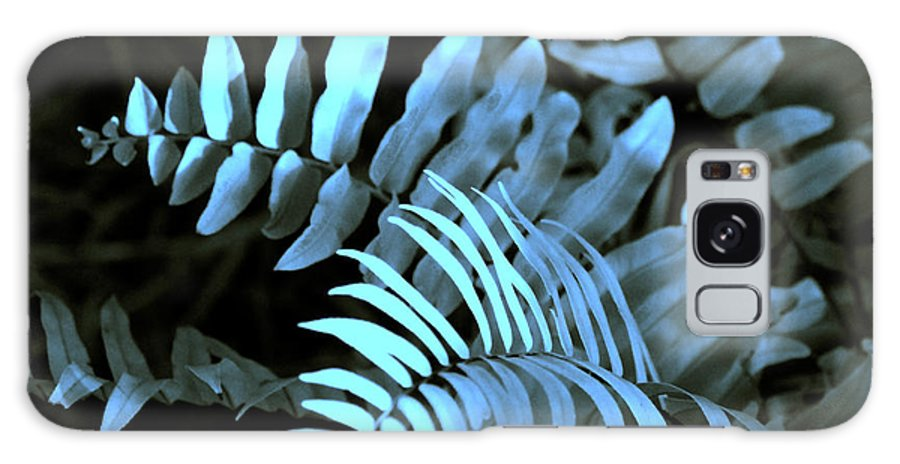 Abstract Galaxy S8 Case featuring the photograph Blue Fern by Susanne Van Hulst