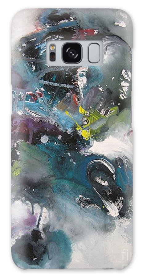 Abstract Paintings Galaxy S8 Case featuring the painting Blue Fever15 by Seon-Jeong Kim