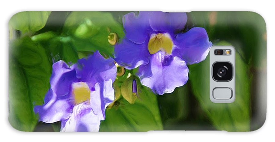 Flowers Galaxy S8 Case featuring the painting Blue Flower by Jan Daniels