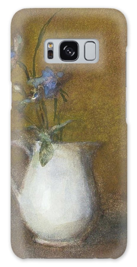 Floral Still Life Galaxy Case featuring the painting Blue Flower by Joan DaGradi