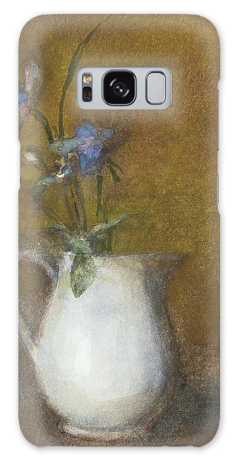 Floral Still Life Galaxy S8 Case featuring the painting Blue Flower by Joan DaGradi