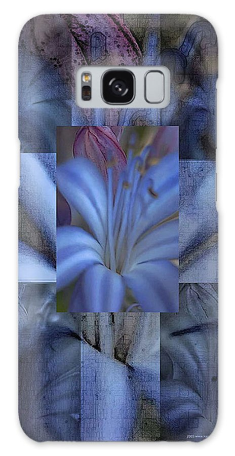 Flowers Galaxy S8 Case featuring the photograph Blue Flower by Karen W Meyer