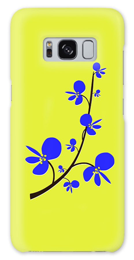 Nature Galaxy S8 Case featuring the digital art Blue Flowers by Anastasiya Malakhova