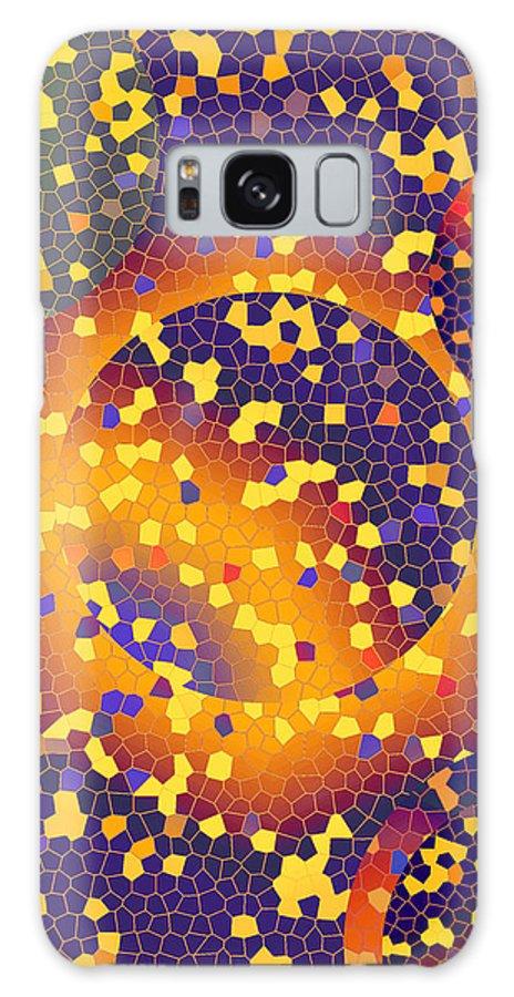 Abstract Galaxy S8 Case featuring the digital art Blue Galaxy by Lynda Lehmann