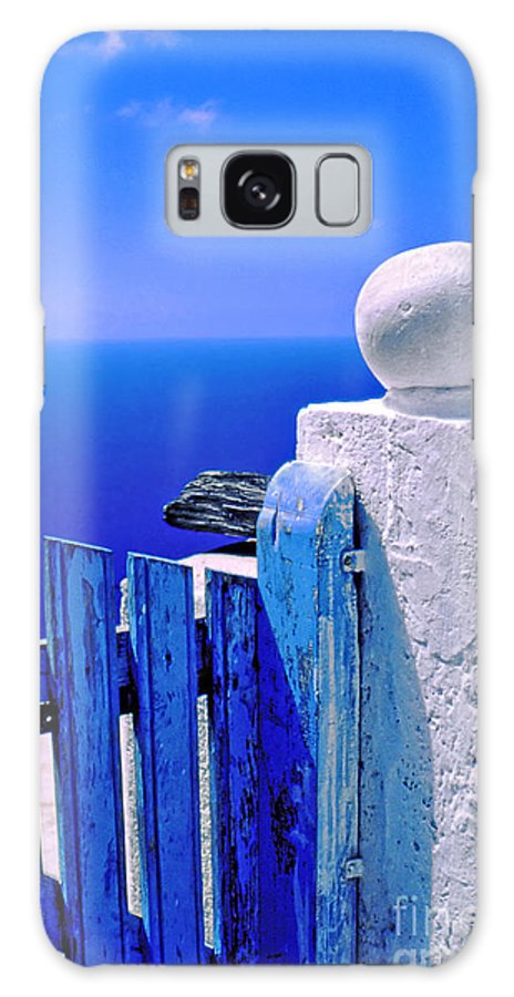 Blue Galaxy S8 Case featuring the photograph Blue Gate by Silvia Ganora