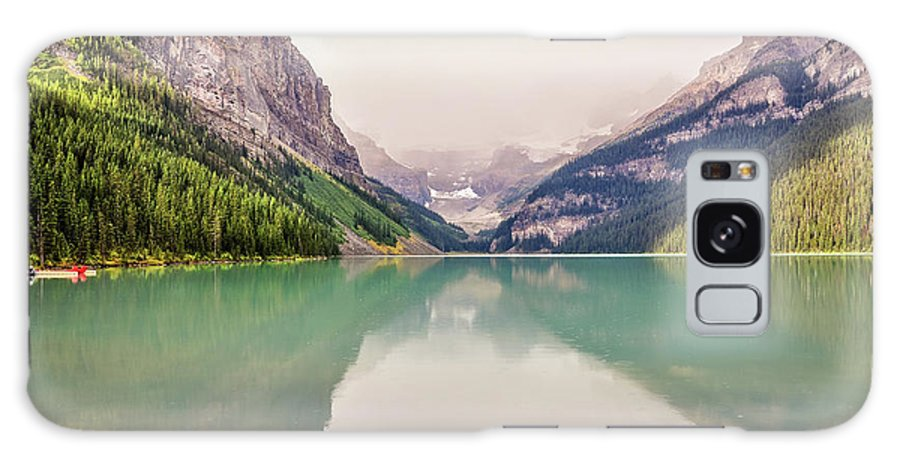 Alberta Galaxy S8 Case featuring the photograph Blue-green Waters Of Lake Louise by Daniela Constantinescu