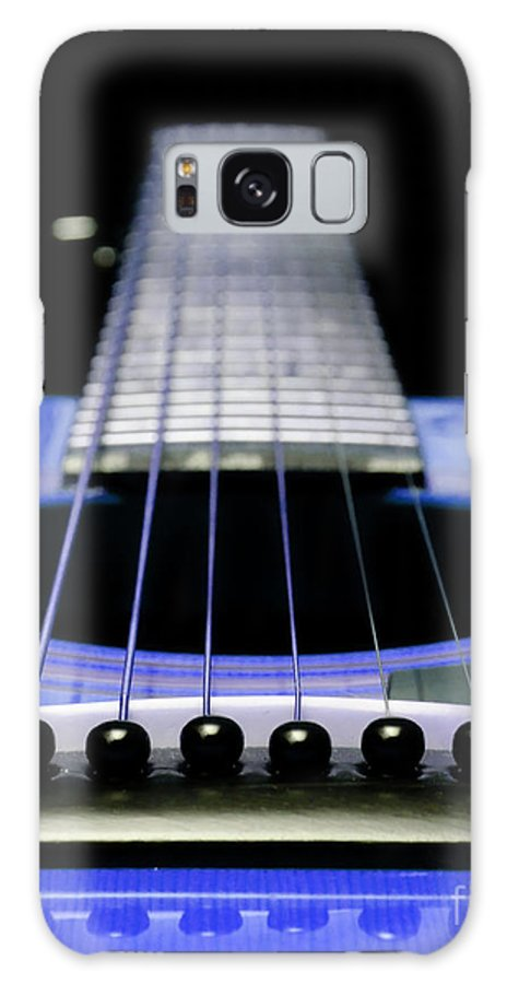 Andee Design Guitar Galaxy S8 Case featuring the photograph Blue Guitar 14 by Andee Design