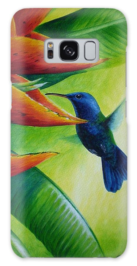 Blue-headed Hummingbird Galaxy S8 Case featuring the painting Blue-headed Hummingbird by Christopher Cox