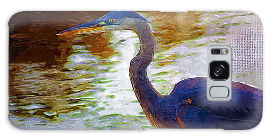 Blue Heron Galaxy S8 Case featuring the photograph Blue Heron 2 by Donna Bentley
