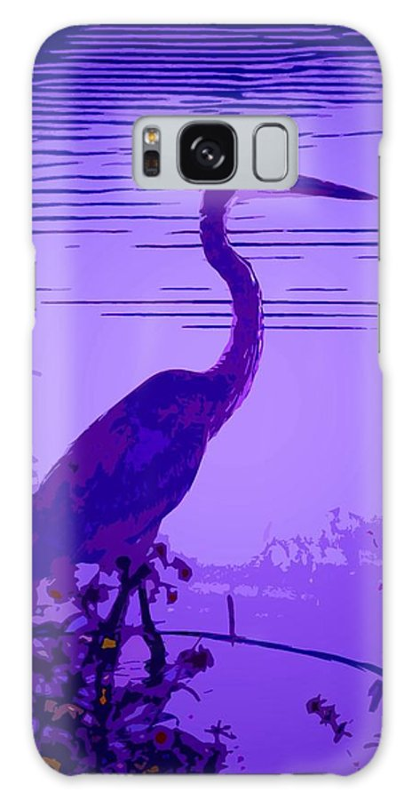 Bright Galaxy S8 Case featuring the photograph Blue Heron... by Arthur Miller