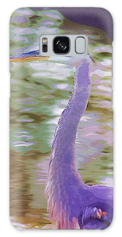 Ponds Galaxy S8 Case featuring the photograph Blue Heron by Donna Bentley