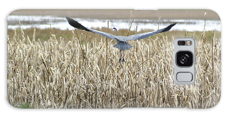 Heron Galaxy Case featuring the photograph Blue Heron Flight by Louise Magno