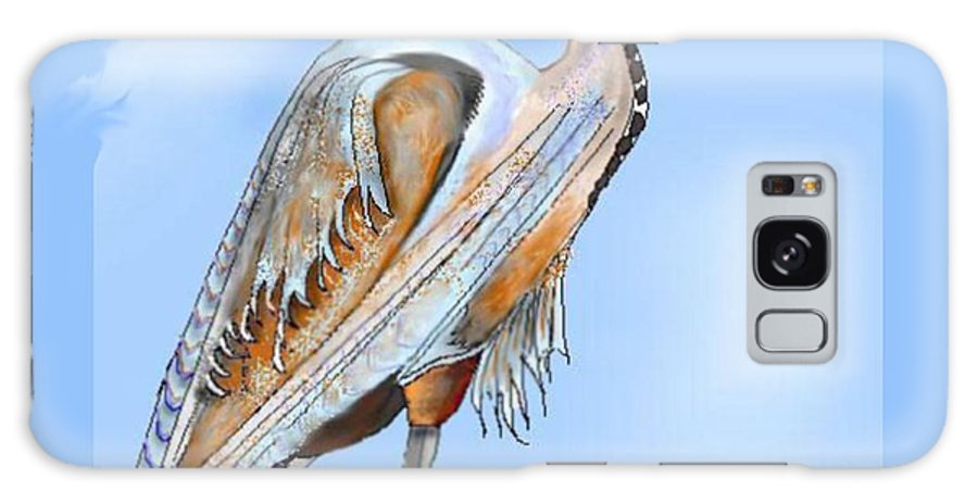 Blue Heron Galaxy S8 Case featuring the painting Blue Heron In The Mist by Anne Norskog
